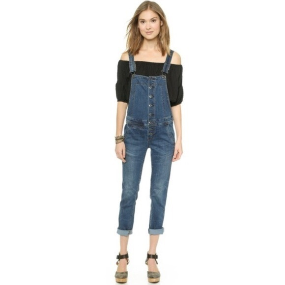 Free People Denim - FP Button Down Overalls